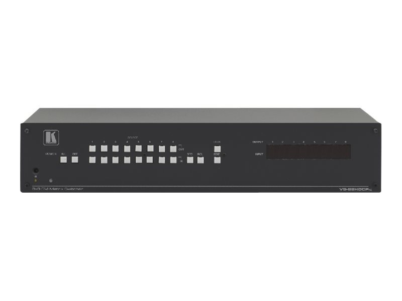 Kramer 8x8 DVI (HDCP) Matrix Switcher16-Port Ethernet RS-232 RS-485 2.25Gbps Rack-Mount, VS-88HDCPXL, 31826614, Switch Boxes - AV