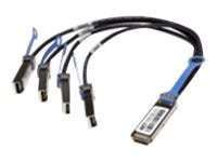 Netpatibles 40GBase-AOC QSFP to 4x SFP+ Active Optical Breakout Cable, 7m