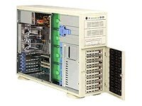 Supermicro Barebone SuperWorkstation 7044A-32 4U Rack Tower, Xeon DP, 8X SAS, PCIE16,3PCIX,PCI,645W,Black