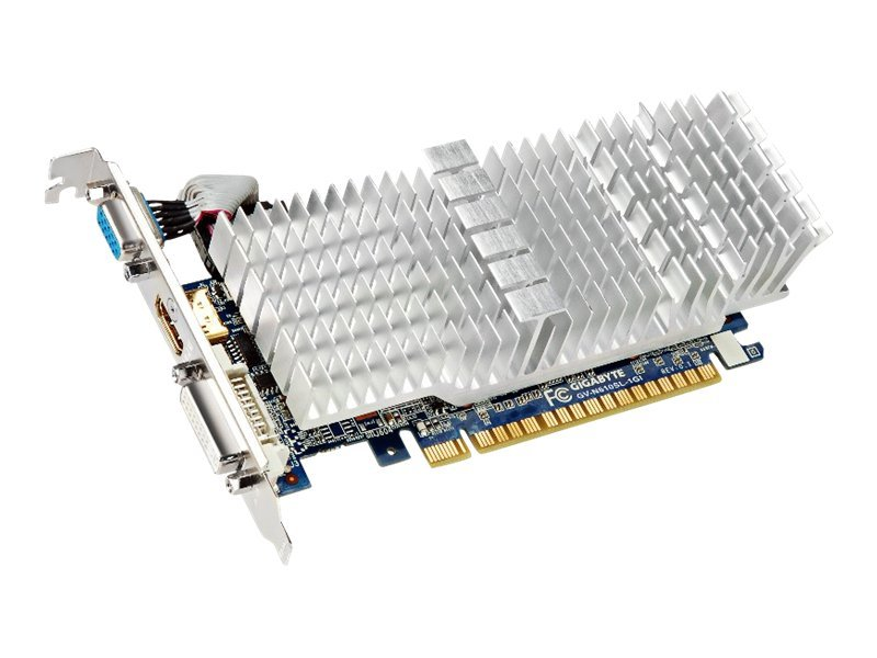 Gigabyte Tech GeForce GT 610 Silent Series PCIe 2.0 Graphics Card, 1GB DDR3, GV-N610SL-1GI, 14275996, Graphics/Video Accelerators