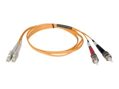 Tripp Lite Fiber Optic Cable, LC-ST, 50 125, Duplex Multimode, 5m, N518-05M, 5623101, Cables