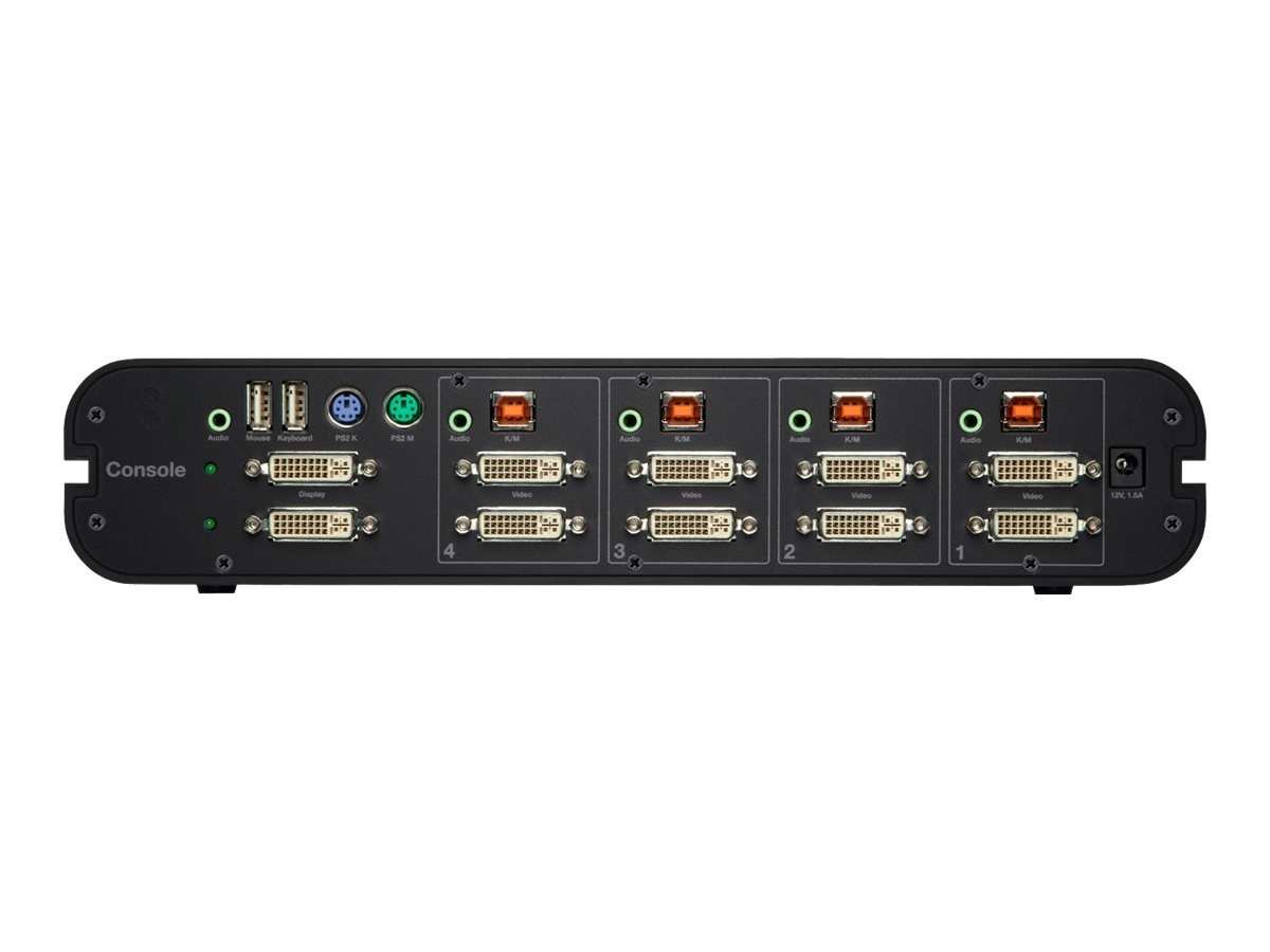 Belkin OmniView Secure 4-Port Dual Head DVI-I KVM, F1DN104E