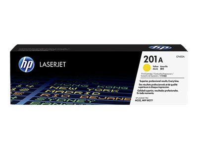 HP 201A (CF402A) Yellow Original LaserJet Toner Cartridge w  JetIntelligence for M252, M277 Series, CF402A, 19055378, Toner and Imaging Components