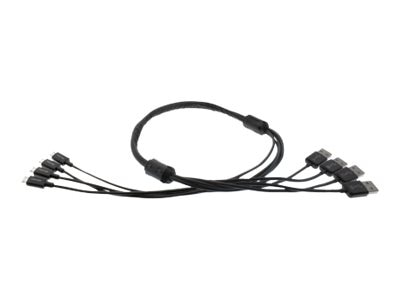 Aleratec 4-Device Micro USB Snake Cable, 390123