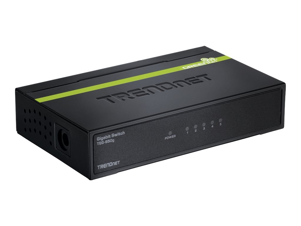 TRENDnet 5-port 10 100Mbps GREENnet Switch, TE100-S50G