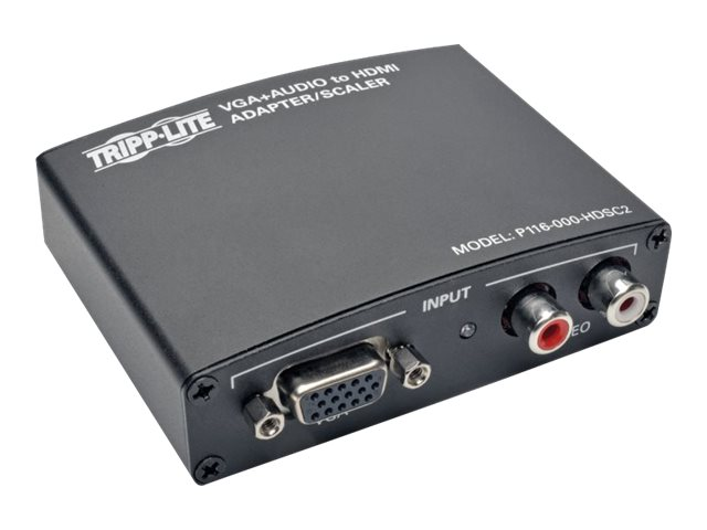 Tripp Lite VGA with RCA Stereo Audio to HDMI Converter Scaler, P116-000-HDSC2, 28888814, Adapters & Port Converters