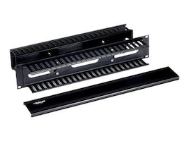 Black Box Rackmount Cable Raceway, Horizontal, Double Sided, 2U, RMT103A-R3, 10353547, Rack Cable Management