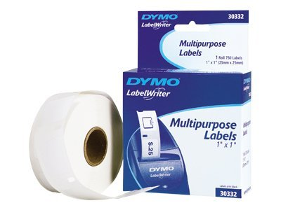DYMO 1 x 1 Costar Labels, 30332, 48700, Paper, Labels & Other Print Media