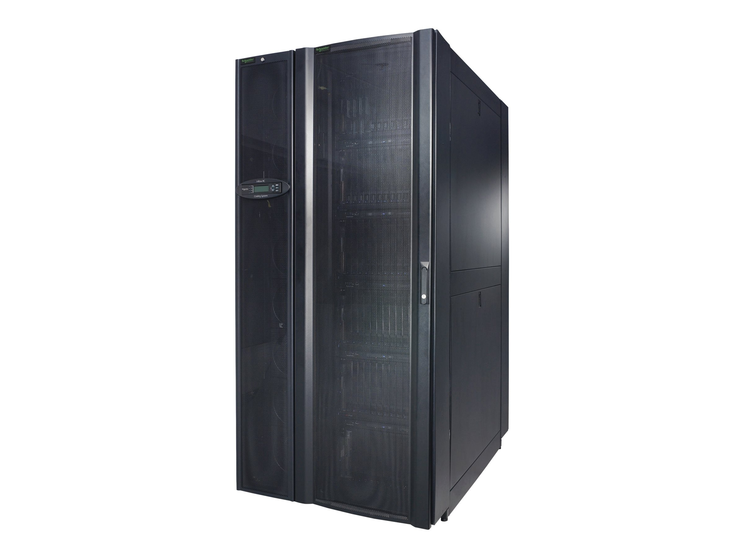 APC InRow SC System: (1) InRow SC, (1) NetShelter SX Rack 600mm with Front and Rear Containment, RACSC112