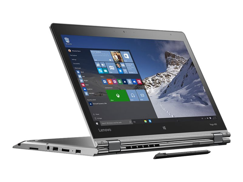 Lenovo TopSeller ThinkPad Yoga 460 Core i7-6500U 2.5GHz 8GB 256GB OPAL ac BT FR WC Pen 14 FHD MT W10P64, 20EM001MUS, 31151442, Notebooks - Convertible