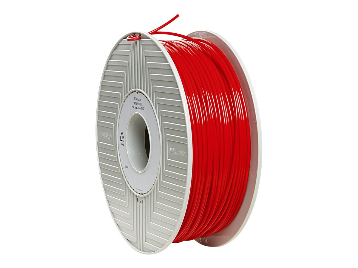 Verbatim Red 3mm 1kg PLA 3D Filamennt Reel