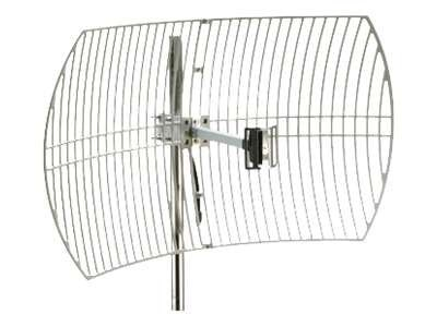 Premiertek Outdoor 2.4GHz 24dBi Directional High-Gain N-Type Female Aluminum Die Cast Grid Parabolic Antenna, ANT-GRID-24DBI, 16977481, Wireless Antennas & Extenders