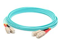 ACP-EP SC-SC OM4 Multimode LOMM Fiber Patch Cable, Aqua, 6m, ADD-SC-SC-6M5OM4