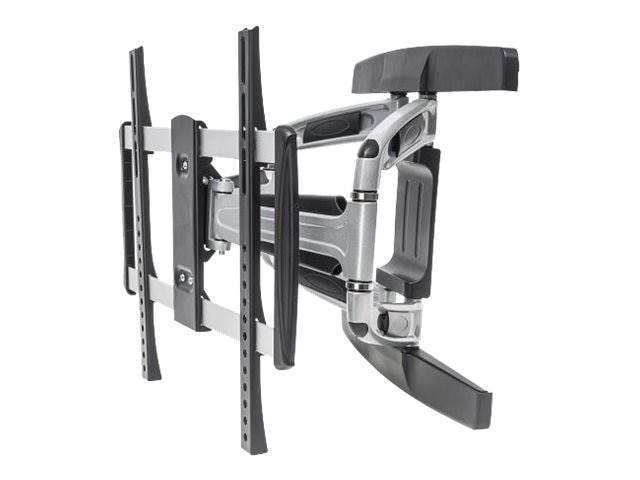 Manhattan Universal Aluminum LCD Full-Motion Wall Mount for 32-55 Displays, Black Silver