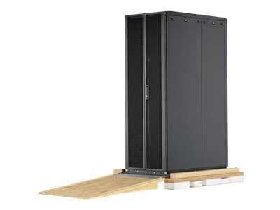 Panduit S-Type Cabinet 42U x 700mm x 1200mm Sides Ramp (2) PDU Brackets Doors Casters, Black