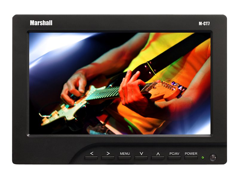 Marshall Electronics 7 M-CT7-CE6 LED-LCD Camera Top Monitor with Canon LP-E6 Plate Battery Charger
