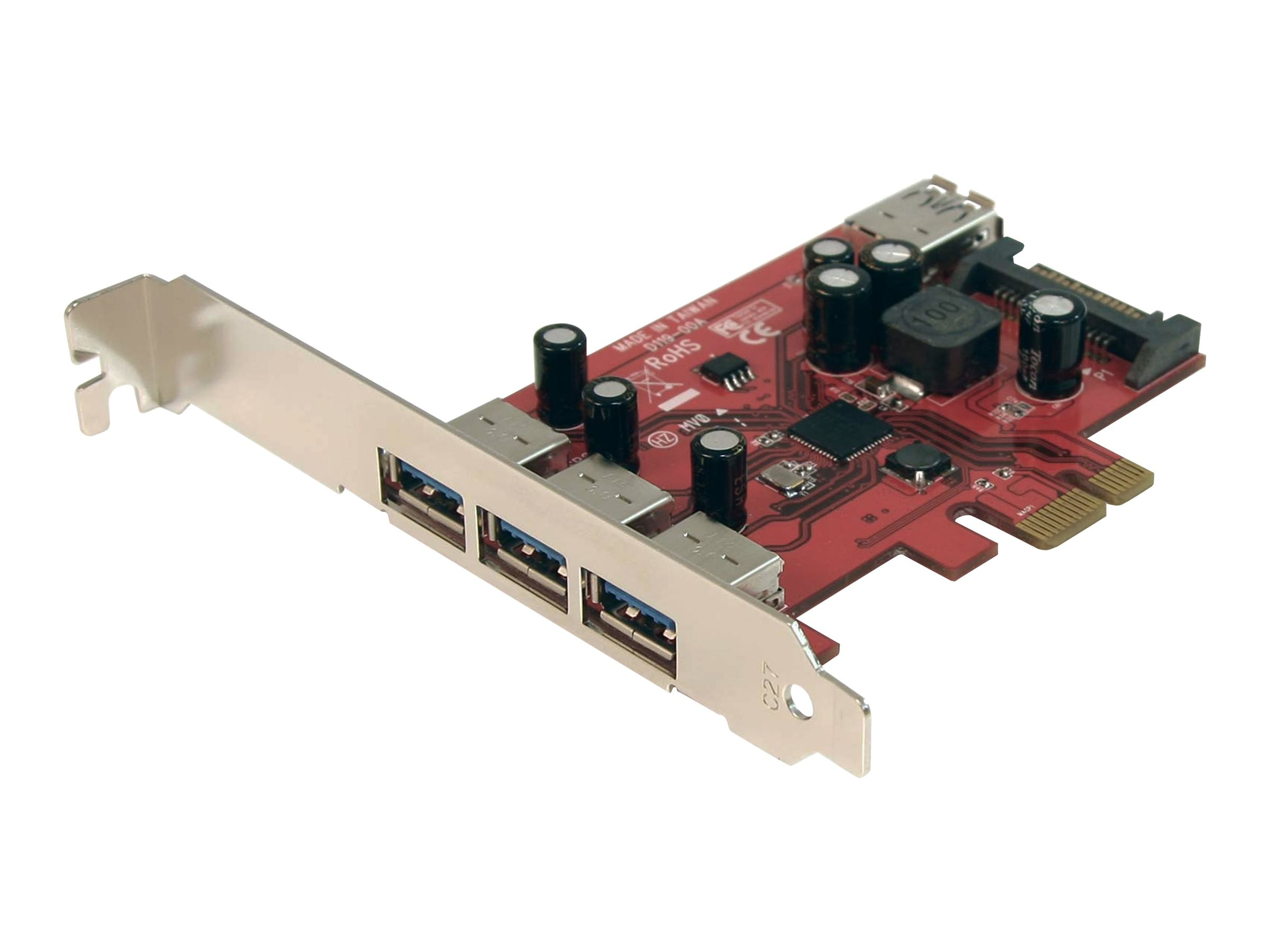 StarTech.com 4-port SuperSpeed USB 3.0 PCI Express Card w  SATA Power, PEXUSB3S4, 13131704, Controller Cards & I/O Boards