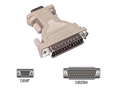 C2G DB9F to DB25M Serial Adapter, 02446, 134628, Adapters & Port Converters