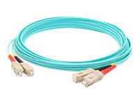 ACP-EP SC-SC OM4 Multimode LOMM Fiber Patch Cable, Aqua, 15m, ADD-SC-SC-15M5OM4