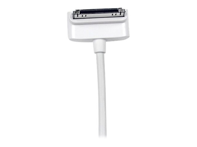 StarTech.com Down Angle Apple 30-pin Dock Connector to USB Cable for iPhone iPod iPad with Stepped Connect, 1m, USB2ADC1MD