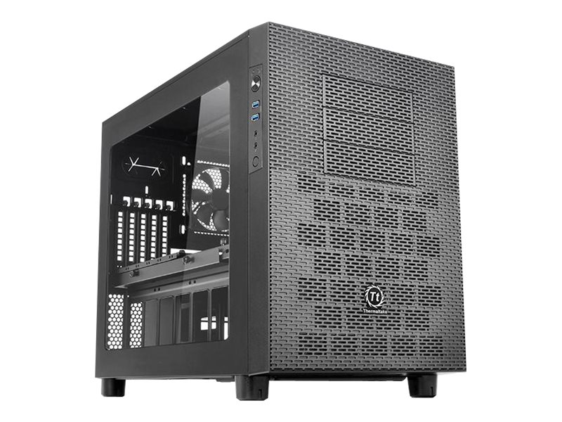 Thermaltake Chassis, Core X2 Cube mATX 4x3.5 Bays 3x5.25 Bays 5xSlots Window No PSU, Black