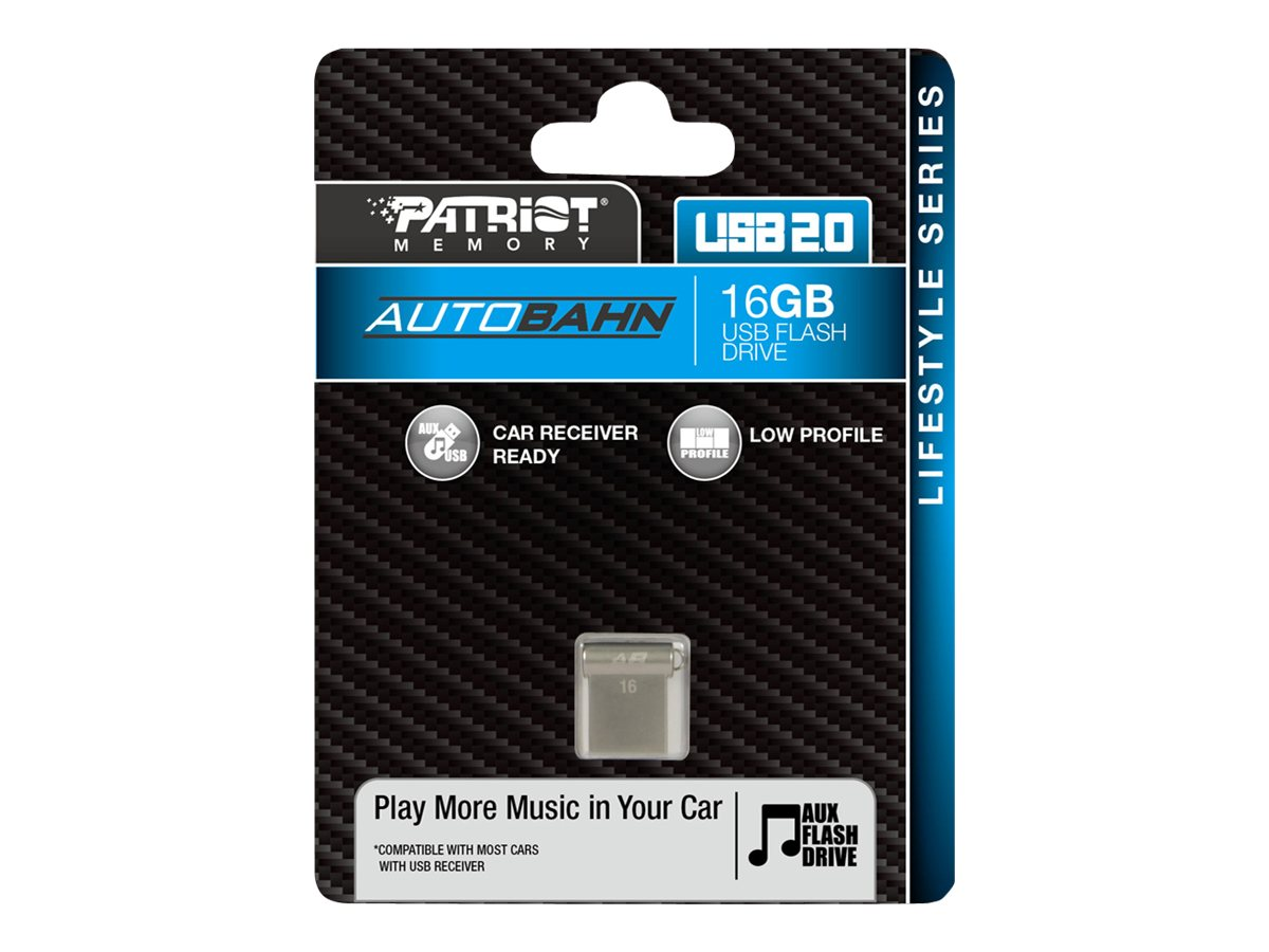 Patriot Memory 16GB Autobahn USB 2.0 Flash Drive, PSF16GLSABUSB