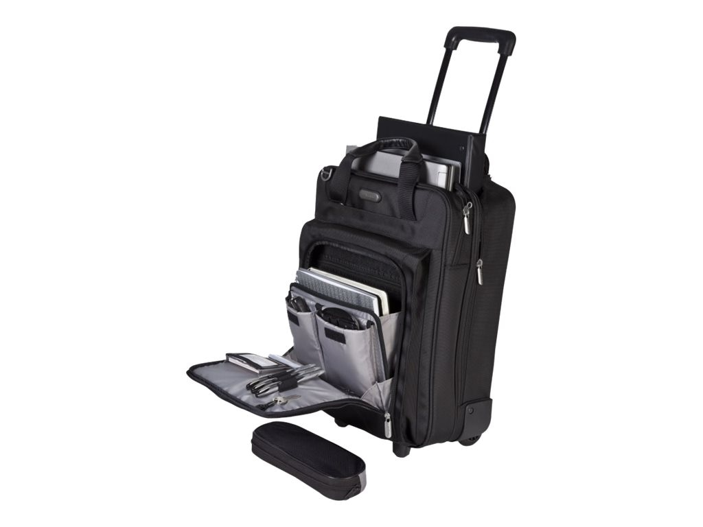Targus Corporate Traveler Vertical Roller Notebook Case, for 15.4 Screen, Black, CUCT02R, 7525723, Carrying Cases - Notebook