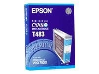 Epson Stylus Pro 7500 Ink Cartridge - Cyan, T483011, 193998, Ink Cartridges & Ink Refill Kits