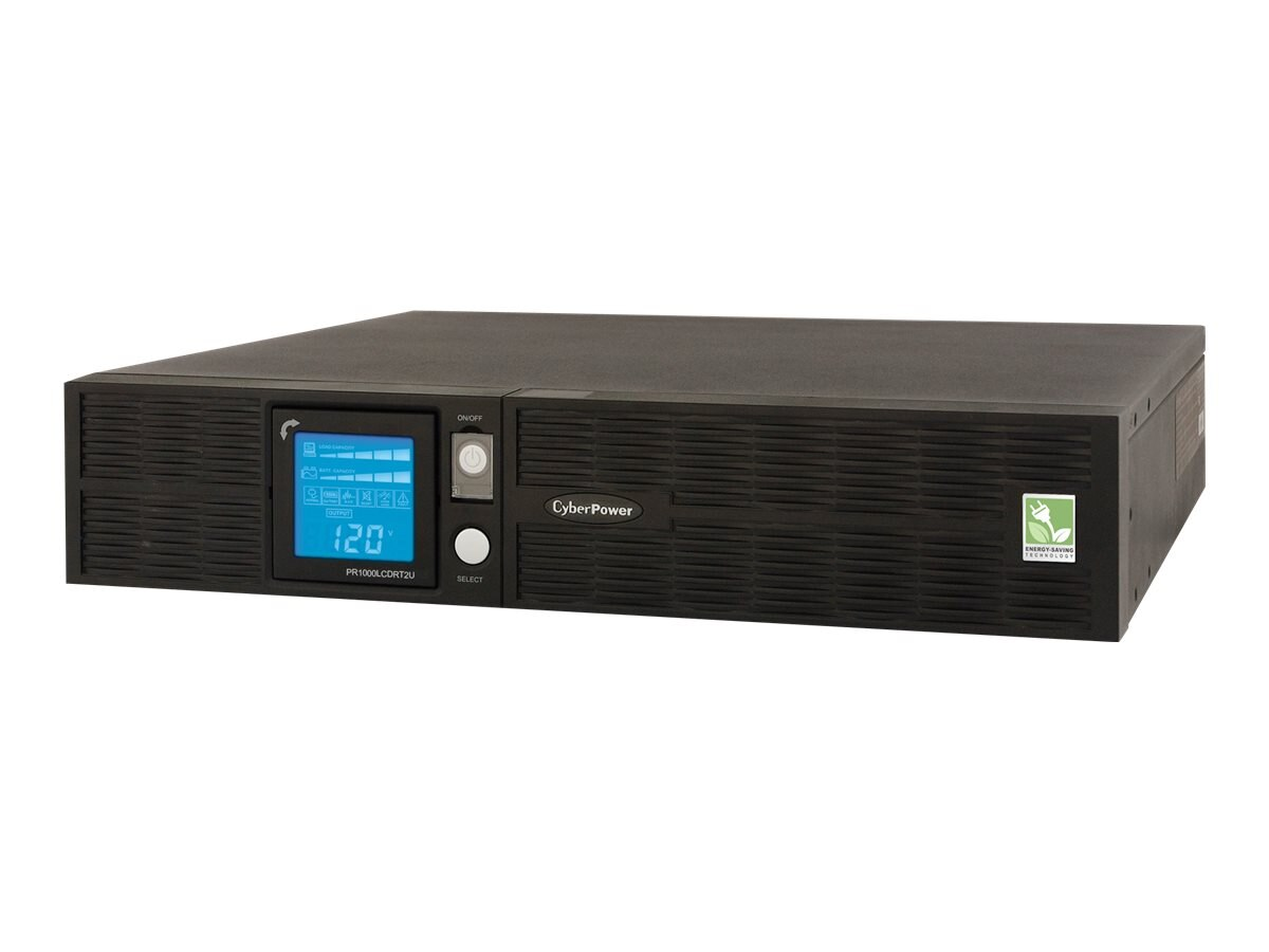 CyberPower 1000VA 700W Smart App Sinewave LCD UPS 2U RM Tower 120V AVR 8 Outlets, PR1000LCDRT2U, 8875151, Battery Backup/UPS