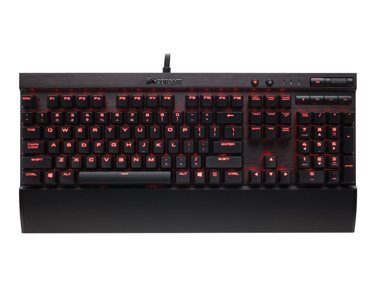 Corsair Gaming K70 Lux Mechanical Keyboard Cherry MX Red, CH-9101020-NA