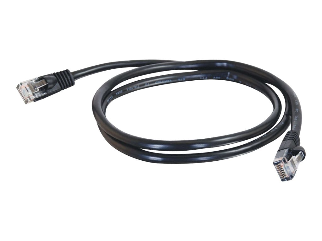 C2G Cat5e Snagless Unshielded (UTP) Network Patch Cable - Black, 1ft, 26969, 5712365, Cables