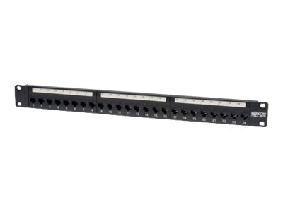 Tripp Lite 24-Port Cat5e Feedthrough Patch Panel, N054-024, 5923349, Patch Panels