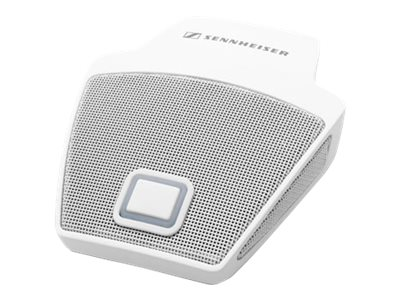 Sennheiser SpeechLine Wired Microphone Cardioid On-Table Boundary Mic w  Mic Button & LED, White, 505616, 18373471, Microphones & Accessories