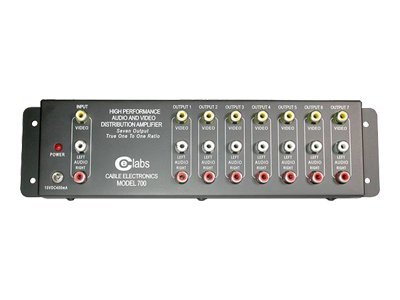 C2G 7-Output RCA Audio Video Distribution Amplifier, 41067, 6476763, Video Extenders & Splitters