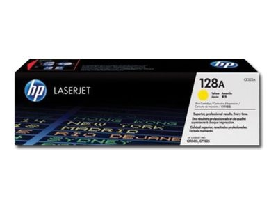 HP 128A (CE322A) Yellow Original LaserJet Toner Cartridge for HP LaserJet Pro CP1525nw Color Printer, CE322A, 11845471, Toner and Imaging Components