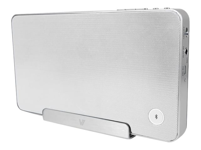 V7 Bluetooth Wireless Speaker & Stand  - White, 4W, 3.5mm, SP5500-BT-WHT-9NC, 16432511, Speakers - Audio
