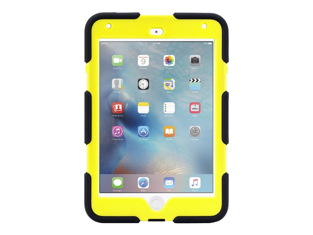 Griffin All-Terrain Military Duty Anti-Shock Case w  Stand for iPad mini 4, Denim Citron