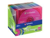 Verbatim 12x 700MB 80min. Color CD-R Media (20-pack Slim Case), 96685, 10021745, CD Media
