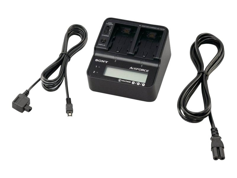 Sony AC Adapter Battery Charger for V, H, P Series Batteries, ACVQV10
