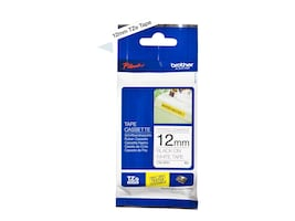 Brother 0.47 x 26.2' TZeS231 Black on White Tape w  Extra Strength Adhesive, TZE-S231, 12428080, Paper, Labels & Other Print Media