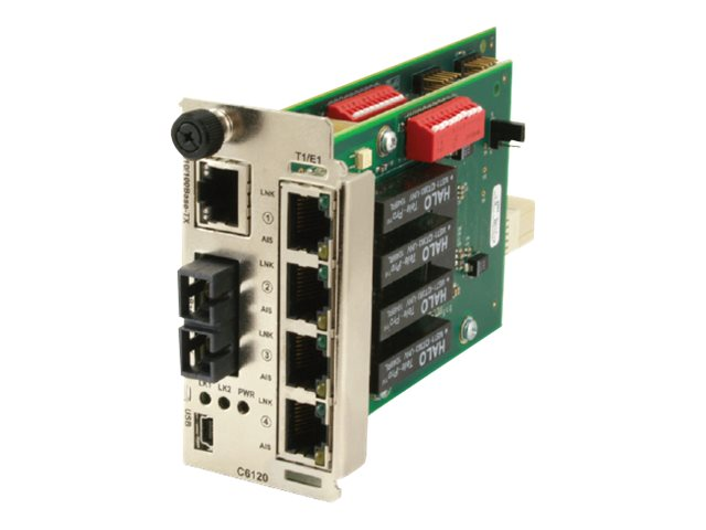 Transition 4xT1 E1 Ion with Ethernet to Fiber 1550NM SM SC 120KM, C6120-1035, 13571902, Network Transceivers