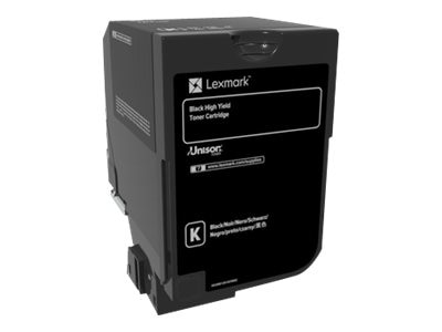 Lexmark Black High Yield Toner Cartridge for CS720 & CS725 Series, 74C0H10