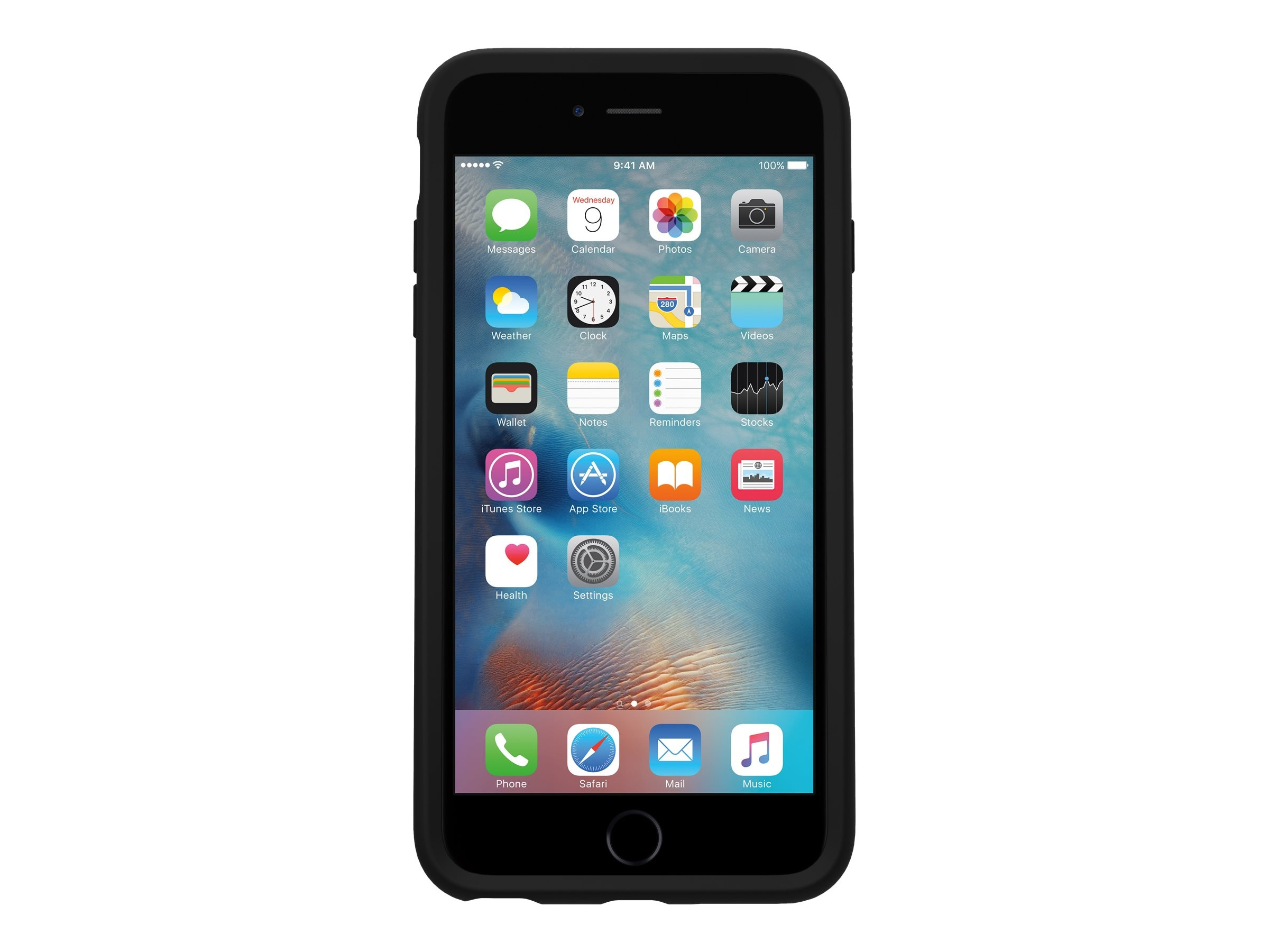 OtterBox Symmetry Case for iPhone 6 6s, Black, 77-52290, 30835295, Carrying Cases - Phones/PDAs