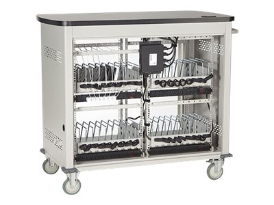Black Box 36-Unit Laptop Charging Cart with Hinged, Locking Door, UCCDL36H