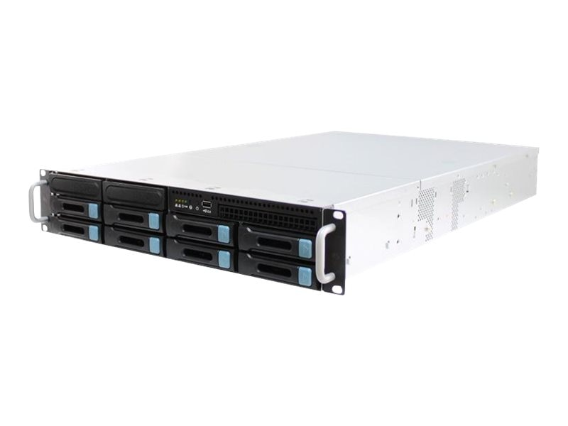 AIC RSC-2KH Server Rack Chassis, 2U with 4-1 Mini SAS Backplane, 8 Bays, 800W 80+ Silver Hot-Swap RPS, RSC-2KH080PSSA2C0BLA
