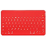 Logitech Keys-To-Go Ultra-Portable Stand-Alone Keyboard for iOS 7 Android 4.1 Win7 or Higher Devices, Red