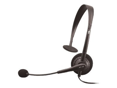 Cyber Acoustics AC-100 Mono Speech Headset with Boom Mic, AC-100B