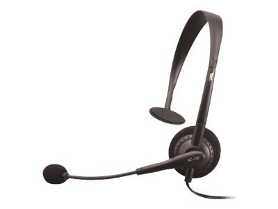 Cyber Acoustics AC-100 Mono Speech Headset with Boom Mic, AC-100B, 10107426, Headsets (w/ microphone)