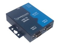 Brainboxes 2-port DB9 Serial USB RS232 1MB Industrial Casing Controller for Desktop
