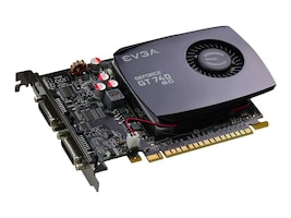 eVGA GeForce GT 740 PCIe 3.0 x16 Superclocked Graphics Card, 4GB DDR3, 04G-P4-2744-KR, 17405397, Graphics/Video Accelerators
